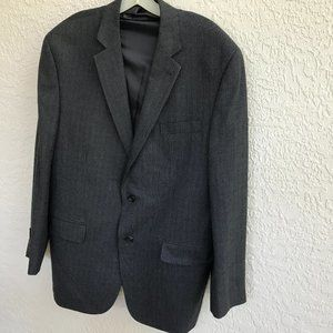 IZOD SPORT COAT BLAZER BLACK BLUE CHECK 44R NEW